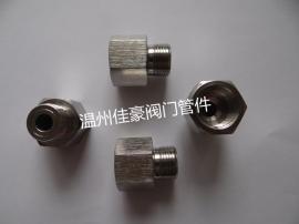 佳豪牌M20*1.5(F)-1/2NPT(M) 304压力仪表内外丝补芯转换接头