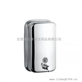 手压式不锈钢皂液盒 自动皂液器 酒店用品厂家 卫浴用品家居用品
