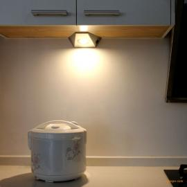 威斯泰led厨房橱柜灯家用衣书柜吊柜底墙角玄关遮线节能不锈钢灯