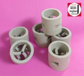 瓷鲍尔环 高强度陶瓷鲍尔环填料 金达莱精填牌陶瓷散堆