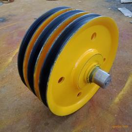 厂家直销 铸钢滑轮片 优质轴承 5T定滑轮组