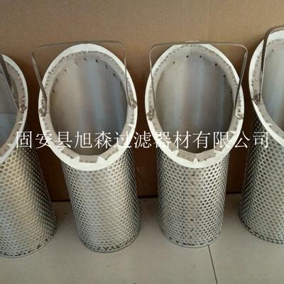旭森不锈钢篮式过滤器滤芯/斜端口过滤网不锈钢丝布焊接滤油芯