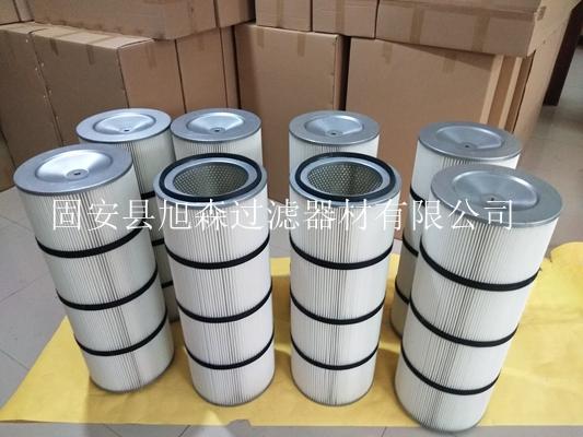 热电厂3290覆膜除尘滤筒_高精度粉尘净化滤芯_车间净化除尘滤筒