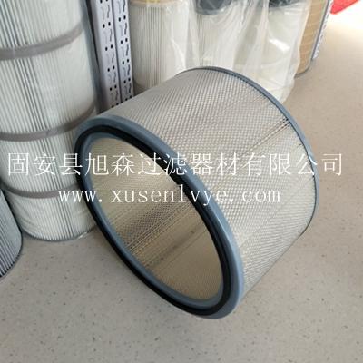 600直径PET无纺布除尘滤芯_内外护网加固型滤筒_管道除尘滤筒