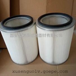 工业粉末回收滤筒价格_覆膜无纺布精密细粉除尘滤芯