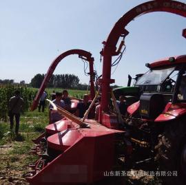 多功能青储收割机厂家直销 圣泰牌玉米带棒收割机报价