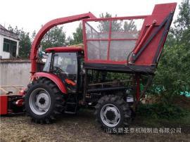 青储饲料厂适用整株玉米收割机生产厂家 圣泰牌玉米带棒收割机