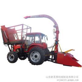 整株玉米带棒收割机效果 圣泰牌全自动玉米收割机效果