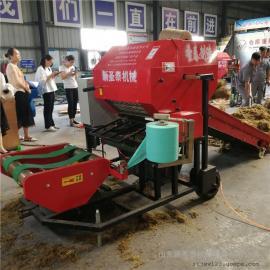 供应青储饲料厂适用打捆包膜机厂家直销 圣泰青贮打包机报价