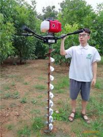 大面积钻坑植树机单人便携式地钻挖洞机