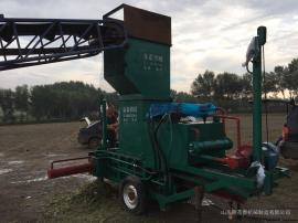 干秸秆卧式液压打包机生产厂家 圣泰多功能套袋打包机型号