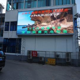 广场led显示屏高度几米合适什么规格参数P4led屏视频效果更好
