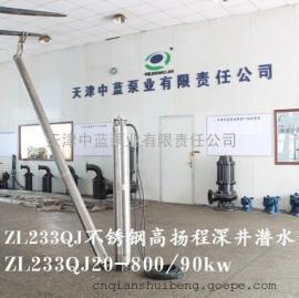 QJ不锈钢高扬程深井潜水泵
