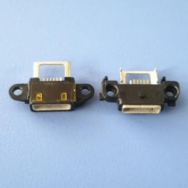 方口USB 6P 防水母座 针加粗3Pin 过3A电流 带支架翅膀 防水IP67