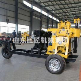 拖车式打井机钻深井机械设备行走式液压水井钻机型号xyx-130