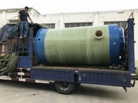 一体化雨水预制泵站厂家 玻璃钢污水一体化提升泵站