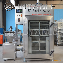 小型熏鱼烟熏炉,不锈钢腊肉烟熏炉,哈红肠加工流水线设备