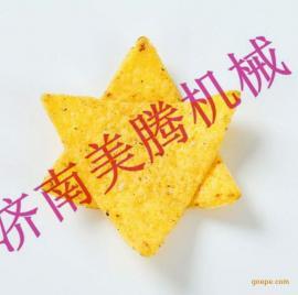 墨西哥黄色三角形玉米薄片加工设备 糙粮玉米片生产机械