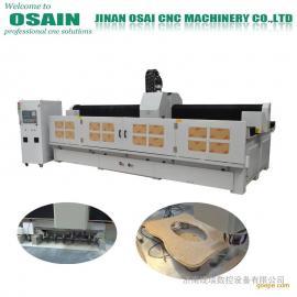 JX-3015石材台面切磨一体机 自动换刀 磨边打孔