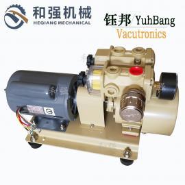 钰邦真空泵RV-25V-SS小型无油旋片式真空泵 自动化吸盘真空泵0.75