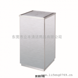 禁烟D桶 带禁烟标志的垃圾桶 不锈钢禁烟垃圾箱 方形禁烟垃圾桶