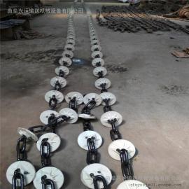 板链牵引盘片提升机耐高温 粉体料管链机