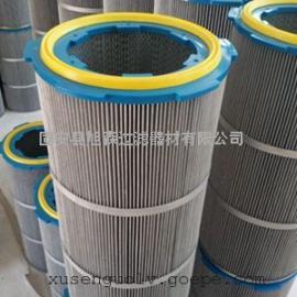 PET聚酯纤维无纺布滤芯 涂装防静电除尘滤芯 粉末回收除尘滤芯