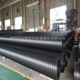 增强复合排污管 PE钢带增强波纹管