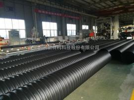 PE钢带增强螺旋波纹管 市政排水排污管