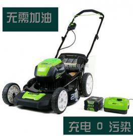 格力博 greenworks 80V电动草坪车锂电割草机无刷手推式打草机