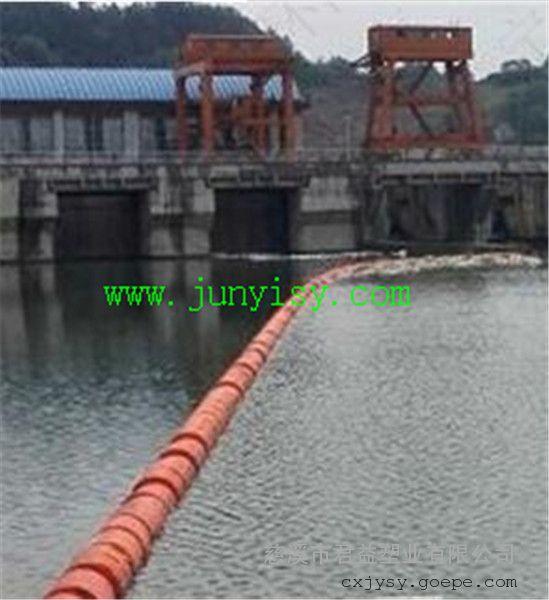 水库前拦截垃圾塑料浮筒 直径600*1200塑料拦污浮筒