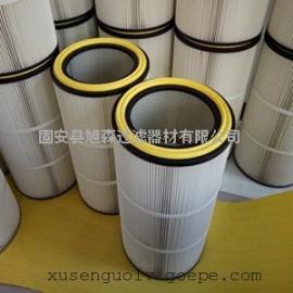 烟尘除尘器配套防静电滤筒_进口PET聚酯纤维覆膜除尘滤芯