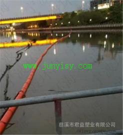 直径400*1000拦污塑料浮体 穿钢丝绳实心拦截树枝浮体