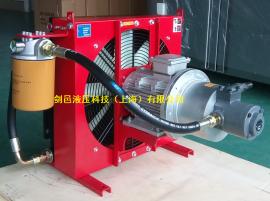 液压剪板机折弯机油冷却散热器风冷却器_液压弯管机风冷却器
