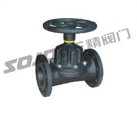 G46J法兰连接直通式衬胶隔膜阀