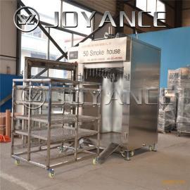 全自动红肠烟熏炉,全自动粉肠加工流水线,自动熏腊肉的机器