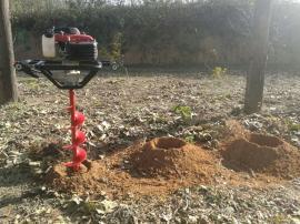 秒速打洞钻孔种树神器雷力植树挖坑机