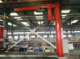 优质500公斤旋臂起重机 电动旋转单臂吊 仓库码头用悬臂吊