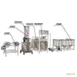 多功能新型节能不锈钢千张豆腐皮机设备盛隆食品机械销售