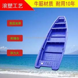 塑料船冲锋舟捕鱼小船游乐双层牛筋加厚pe电动船单人双人三人