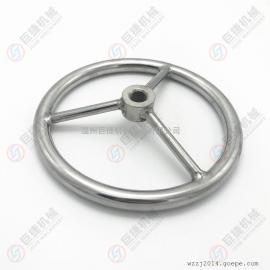 不锈钢圆形手轮 方向盘式手轮 M16 M20 M24 304不锈钢手轮