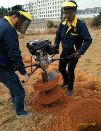 大功率手扶式电线杆挖坑机打洞秒速
