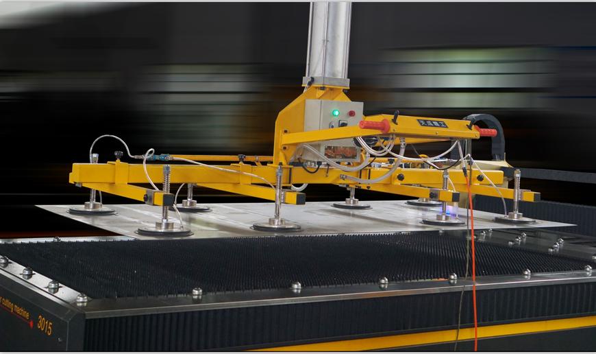 悬臂式真空吸盘吊, 激光切割机的好帮手-天成精工吸盘吊具