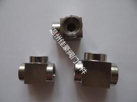 佳豪牌304SS不锈钢方形方体承插焊沉插套焊接式三通