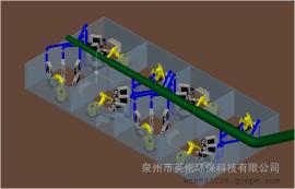 英伦中央式集尘设备:机器人自动研磨粉尘处理