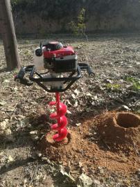 新一代手提式植树钻坑机打洞钻孔秒速