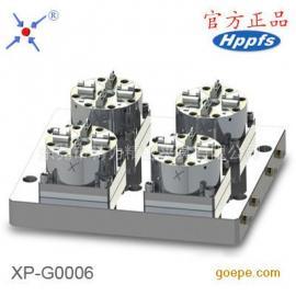 D100气动工装夹具 CNC快速定位电极夹具 4头气动卡盘