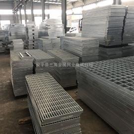 钢格栅平台踏步重型插接钢格板厂家 复合镀锌防滑齿型钢格板现货