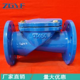 HC44X橡胶瓣止回阀 排水管道防止水倒流阀 冠龙远方