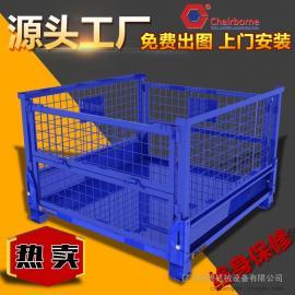 金属周转箱仓储网格箱可折叠流转箱周转铁框钢箱物料箱定制